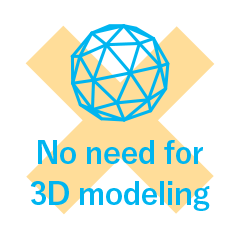 No need for 3D modeling